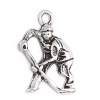 Pendant Hockey Player Antique Silver